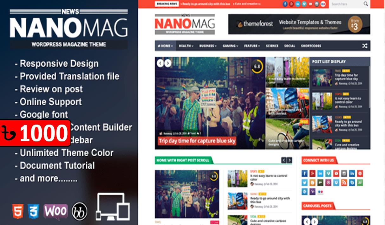 NanoMag -WordPress Magazine Theme
