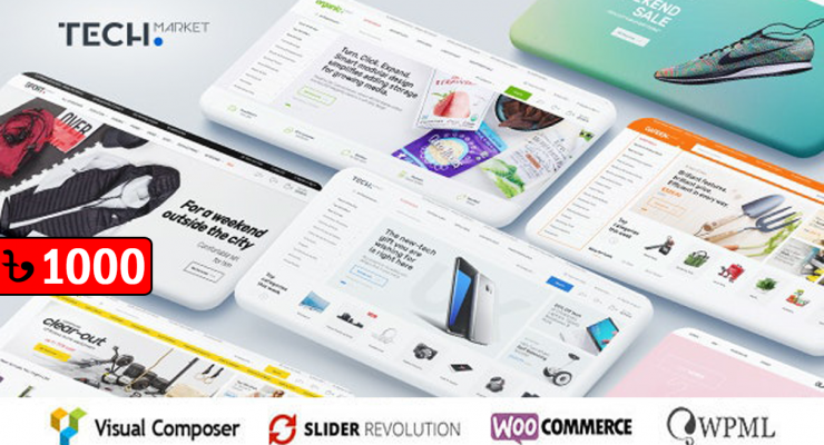 Techmarket Multi & Electronics Store WooCommerce Theme