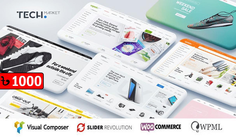Techmarket Multi & Electronics Store WooCommerce Theme