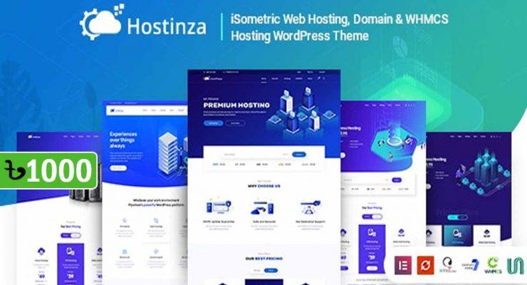 Hostinza Domain Whmcs Web Hosting WordPress Theme
