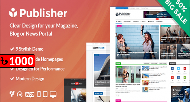 Publisher WordPress News Themes
