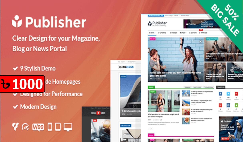 Publisher WordPress News Themes