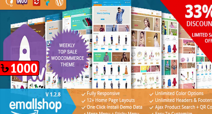 EmallShop Responsive WooCommerce WordPress Theme